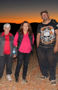 Anne and Pamela of CASSE enjoying sunset with Chris