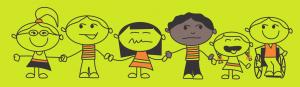 cartoon images group children background